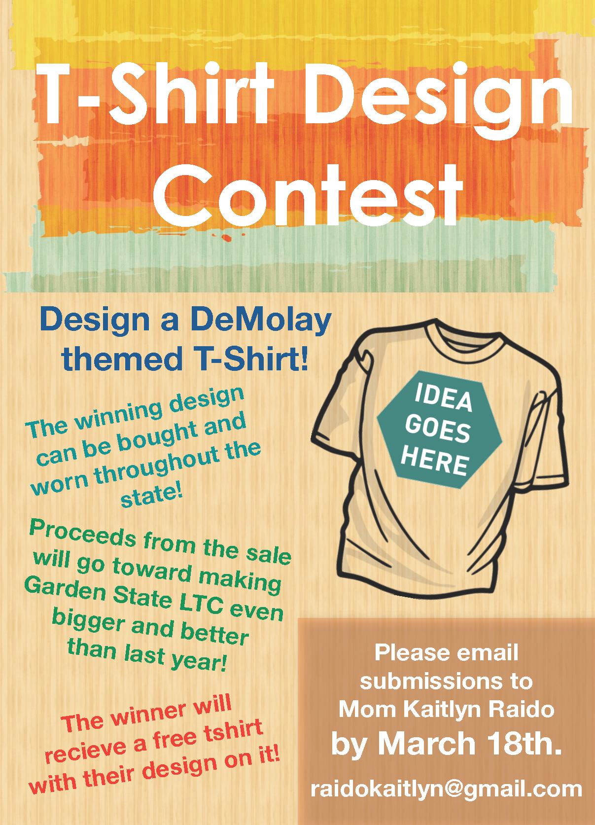 T shirt design contest nj demolay for T shirt design 2017